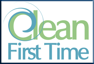 Clean First Time Logo